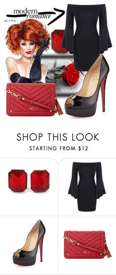 """Black and Red"" by giada2017 on Polyvore featuring Christian Louboutin e Dune"