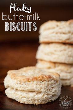 There are few things better than delicious and hot Flaky Buttermilk Biscuits in the morning. Cover them in gravy or serve with butter and preserves. YUM!