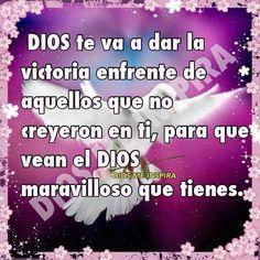 Asi sera, gloria a Dios. Praise the lord