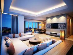 indirekte beleuchtung ideen modernes wohnzimmer dekokissen