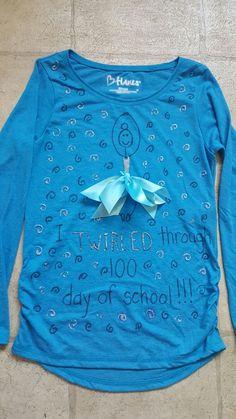 100 days of school ballet ballerina I twirled through 100 days of school shirt