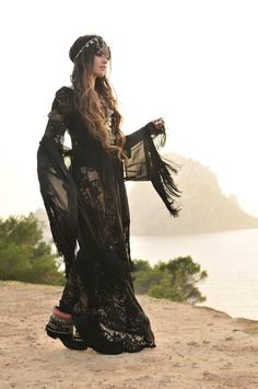 Bohemian maxi dress in black. For more follow www.pinterest.com/ninayay and stay positively #pinspired #pinspire @ninayay