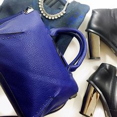 Danielle Nicole Blue Crossbody Blue crossbody bag with detachable strap and gunmetal hardware. Measurements to come. NWOT. Danielle Nicole Bags Crossbody Bags