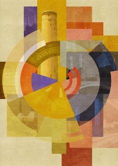 """Saatchi Art Artist Czar Catstick; Collage, """"'KraftWerk' - Battersea Power Station, London, Fine-Art Giclée,  Edition #1 of 50"""" #art"""