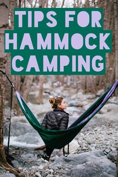 Best tips for taking a hammock camping, backpacking, and hiking.  #hammock #hammocklife #camping #backpacking #hiking #perfecthang