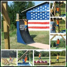 Top Gym Workouts for American Ninja Warrior Competitors Like Jessie Graff Kids American Ninja Warrior Course Kids American Ninja Warrior, Kids Ninja Warrior, America Ninja Warrior, Ninja Warrior Course, Parkour, Backyard Obstacle Course, Kids Obstacle Course, Ninja Training, Ninja Birthday