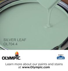 SILVER LEAF OL704.4 is a part of the greens collection by Olympic® Paint.
