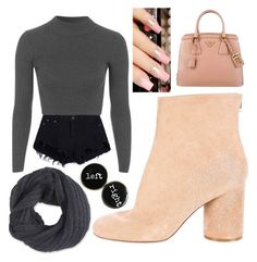 """""""Untitled #28"""" by supemrs on Polyvore featuring Topshop, Maison Margiela, Prada and Frenchi"""