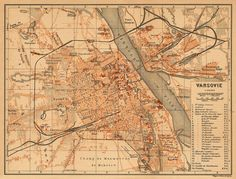 Warsaw old map, 1902