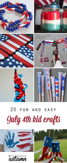 fun and easy 4th of July kids crafts - great ideas for fun family activities on Independence Day!