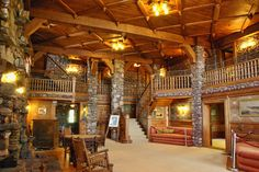 Gillette Castle - inside is cozier than you would think.  It was a real home.