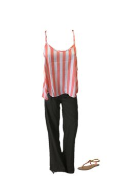Want to be chic and comfortable? Check out this flowy striped tank and linen pants with beaded sandals! Cool and put together for  summer! Get the look at www.luxquisite.ca.