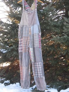 Vintage Gypsy Boho Patchwork Sacred Threads Overalls by sewunique, $47.00