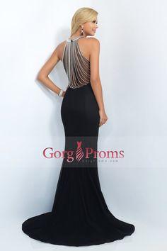 2016 Prom Dresses Scoop Mermaid Spandex With Beading Sweep Train