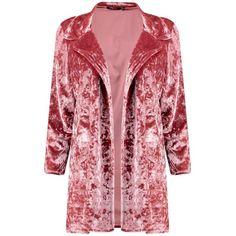 Boohoo Sara Velvet Blazer (£21) ❤ liked on Polyvore featuring outerwear, jackets, blazers, red velvet blazer, red blazer jacket, red velvet jacket, velvet jacket and blazer jacket