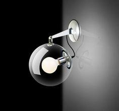 Kinkiet LAMPA ścienna EDISON AB6020-1S Azzardo szklana OPRAWA industrialna żarówka bulb przezroczysty