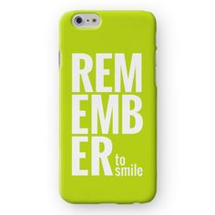 Remember to Smile iPhone 7 Cover by Madotta | Available for all iPhone models &  Samsung Galaxy S devices. Made with love in the UK. Worldwide shipping available. Fashionable iPhone 7 Plus Cases  #madotta View more designs at https://madotta.com/collections/all/?utm_term=caption+link&utm_medium=Social&utm_source=Pinterest&utm_campaign=IG+to+Pinterest+Auto