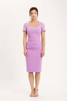 The Sorrento dress has a square neck, short sleeves and rouching acroos the stomach. A classic style which will last you for years to come. Lilac