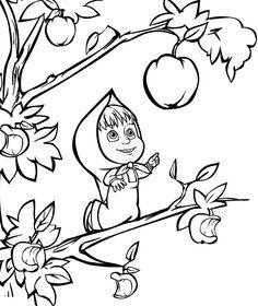 1000 images about disegni di masha e orso on pinterest for Immagini masha e orso da colorare