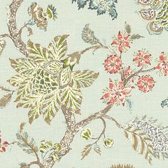 """Transitional floral in pale seafoam & varied pastels on soft breezy linen.  The perennial favorite floral of Loom Stylists & clients alike!Recover your chair. Product Specifications Sold ByLoom Decor    Width54"""" Height36"""" Materials55% Linen, 45% Rayon CategoryUpholstery Fabric StyleTraditional"""