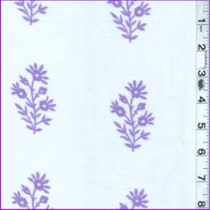 White/Purple Floral Lawn