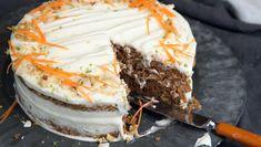Gulrotkake Cream Cheese Topping, Lime Cream, Norwegian Food, Sweets Cake, Vegan Baking, Carrot Cake, No Bake Desserts, Let Them Eat Cake, Cake Cookies