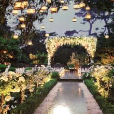 The whole setting is beautiful, particularly the lighting. It feels like a lush secret garden.
