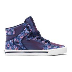 Hippe Supra Womens vaider (Paars/floral) Sneakers van het merk Supra voor Dames . Uitgevoerd in Paars/floral gemaakt van Textiel.