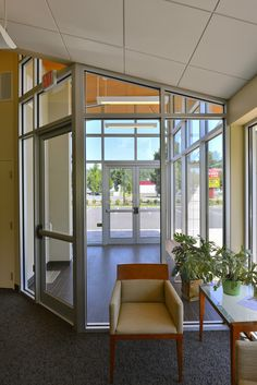 The entrance of the Waterbury Teachers Federal Credit Union, an example of how small detailing can make such a difference in design and ambiance!