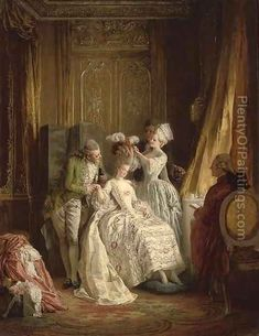 Marie Antoinette, Versailles, France - painting by Heinrich Lossow French History, Art History, Moda Medieval, French Royalty, Rococo Fashion, 18th Century Fashion, 17th Century, French Revolution, Louis Xvi