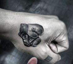 Hand Tattoos Of Boxing Gloves For Men