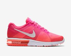SALE!!  Swarovski Nike Pink Air Max Sequent Blinged with SWAROVSKI® Crystals