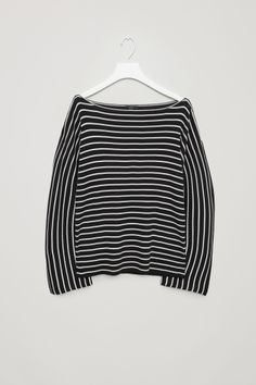 COS image 2 of Striped rib jumper in Black