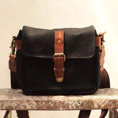 Gouache Waxed Canvas Holga Mini-camera Bag (Black) by qamaycreations. Explore more products on http://qamaycreations.etsy.com