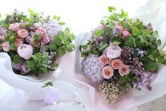 新郎新婦様からのメール ライラックカラーで ご両親様への贈呈用花束 : 一会 ウエディングの花