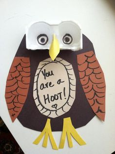 O is for owl. Toddler Craft: You are a Hoot Owl