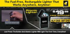 Atomic Lighter is a rechargeable lighter that does not require fuel. Does it work as advertised? Here is our Atomic Lighter review.