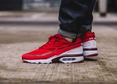 online store eccd8 0ade4 Nike Air Max BW Ultra Hyperfuse University Red Chaussure Basket, Chaussures  Homme, Espadrilles Rouges