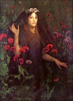 Thomas Cooper Gotch, Death the Bride (c. 1895)
