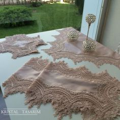 Saray Salon Takımı | Pudra Hand Embroidery, Embroidery Designs, Bed Cover Design, Recycled Dress, Pearl And Lace, Linens And Lace, French Lace, Beaded Lace, Bed Covers
