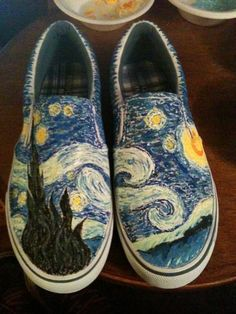 i really want a pair of painted shoes....I would rock these on the weekends