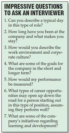 7 of the most impressive questions to ask your interviewer that will help you land your dream job.