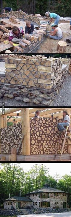 12 great crafts with logs for a natural touch to your home