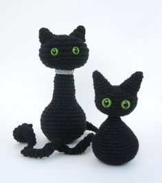 Crochet Pattern Cat Amigurumi Angel Wings or Halloween Decoration- PDF Format p113
