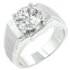 Regal Mens Cubic Zirconia Ring