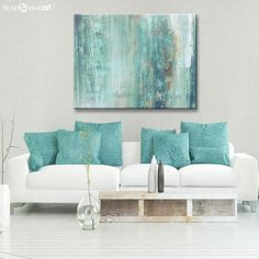 This abstract canvas art is the perfect addition to any contemporary space. It is fully finished, arriving rea Large Canvas Art, Abstract Canvas Art, Canvas Wall Art, Painting Abstract, Seascape Art, Large Painting, Ink Painting, Canvas Prints, Art Abstrait