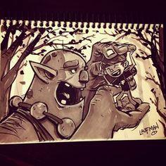 Inktober Day 11 by DerekLaufman on DeviantArt Halloween Illustration, Illustration Art, Drawing Sketches, Drawings, Cartoon People, Sketchbook Inspiration, Drawing Lessons, Ink Art, Inktober