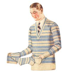 History of 1920s Mens Sweaters, Pullovers, Cardigans