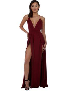 Serene Burgundy Deep In Love Dress | windsor