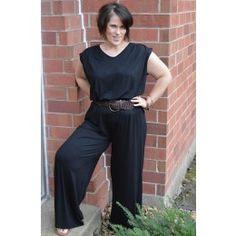 Bermuda Jumpsuit $135 QUICK OVERVIEW This island inspired jumpsuit is a must! Sleeveless with a slightly open design in the back makes for a chic dress/jumpsuit look. Lightweight and silky smooth for a comfortable feel and even more stunning look! Not sure you can pull off a jumpsuit? This is a the perfect place to start!  Available XL-3XL  Colors: Midnight Black  Made in the USA